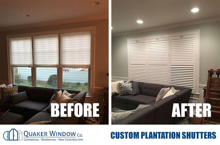 Vinyl Plantation Shutters Custom Sizes For Any Window Or Door